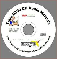 TRAM D300 CB SERVICE & OWNERS MANUALS + Schematic CB Radio KJ4IYE - PDF on CD