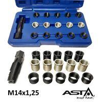 Kit de réparation de filetage de bougie M14x1,25 filets rapporté Professionnel