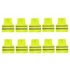 10x Neongelb Warnwesten Unfallweste Sicherheitswarnweste Standardgröße Auto