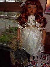 """Donna Rubert, Seymour Mann 28"""" tall Maria  porcelain doll w/coa 122/2500"""