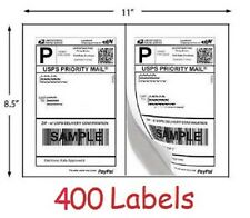 400 Shipping Labels for printing USPS UPS eBay Postage Self Stick Half Sheet