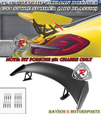 GT4-Style Rear Trunk Spoiler (ABS) Fits 13-16 Porsche 981 Boxter Cayman