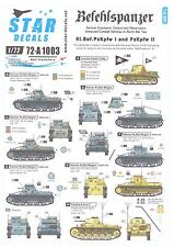 Star Decals 1/72 BEFEHLSPANZER Panzer I and Panzer II Tanks