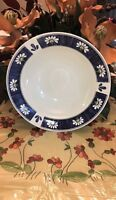 "Oneida Kitchen SPRING DAISY Round Vegetable Serving Bowl 9 3/4"" Blue Band"