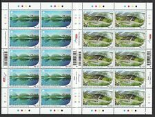 SINGAPORE 2018 RUSSIA JOINT ISSUE MODERN ARCHITECTURE PARKS 2 x FULL SHEETS MINT