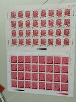 CHINA 1993-1  YEAR OF THE ROOSTER 2V FULL SHEET STAMP IN EXCELLENT COLLECTION