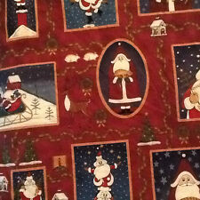 Christmas Country Santa Claus  Fabric 3 2/3 yards