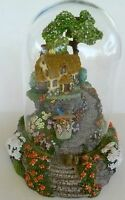 WISHING WELL COTTAGE FRANKLIN MINT HAND PAINTED VIOLET SCHWENIG