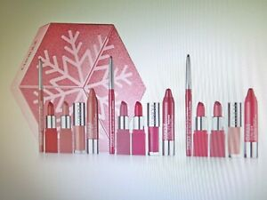 Clinique 3 Lip Looks To Give + Get 15 pieces in Snowflake Gift Box
