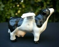 "Vtg Cast Iron Flying Cow Figure ADORABLE 5"" Full Wingspan Holstein Udderly SASSY"