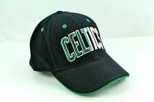 BOSTON CELTICS Black Two Tone Flex Structured Hat Cap NBA L XL