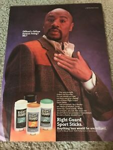 Vintage 1980s MARVELOUS MARVIN HAGLER Photo Poster Print Ad BOXING RIGHT GUARD