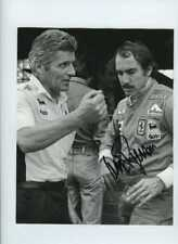 Clay Regazzoni Ferrari F1 retrato 1975 Firmado fotografía de prensa