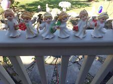 Set of 6 Homco Angel Christmas Tree Ornaments (5622) Nice In Orig Box