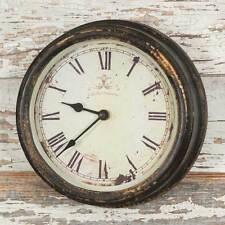 CAFE WALL CLOCK Country Farmhouse Rustic Vintage Distressed Primitive Grey
