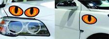 Par De Ojos De Gato Reflectante Divertido Coche Camión Pegatinas cabeza motor espejo retrovisor