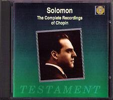 SOLOMON: CHOPIN Etude Ballad Nocturne Polonaise Waltz Fantaisie CD TESTAMENT