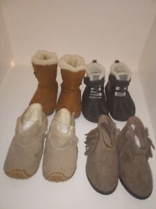 Toddler Girls Boys Shoes boots lot of 4 pair Size  2-3 Cherokee and more