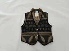 Vintage NTCO Nomadic Traders Sweater Vest Large Womens Feather Leaf pattern