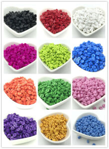 DIY 200pcs Mixed Mini Colors Round Shape Resin Buttons lots 2 holes sewing 6mm