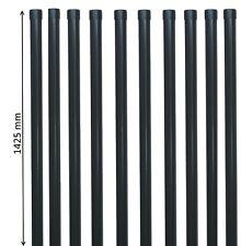 10 Zaunpfosten Zaunpfahl Pfosten für Gartenzaun 34 mm in grau anthrazit RAL 7016