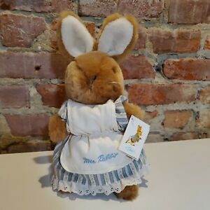 Beatrix Potter Mrs. Rabbit Eden Plush Frederick Warne 1988