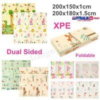 Foldable Nontoxic XPE Baby Kid Play Mat Floor Rug Animal Picnic Cushion Crawling