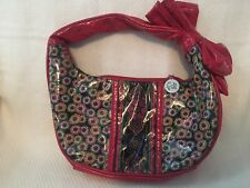 VERA BRADLEY Red Multi-color Handbag Frill All My Love AML SYMPHONY IN HUE