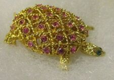 Of Pink Sapphires And Emerald Eyes Revival Turtle Brooch With The Look