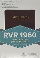 Bible Reina-Valera 1960 Super Giant Letters Spanish Version Brown LeatherTouch