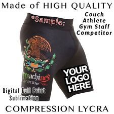 Customized VT Lycra Custom Short MMA BJJ Grappling JiuJitsu S M L XL XX