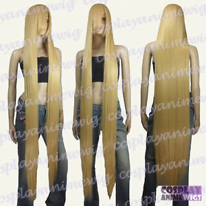 150cm Beige Blonde Styleable Extra Super Long Cosplay Wigs 81_086