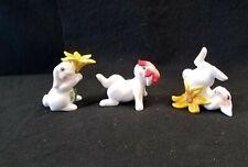 Fitz & Floyd Bunny Blooms Rabbit Tumblers Set of 3