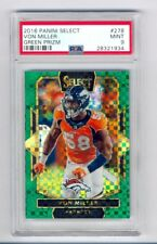 VON MILLER 2016 PANINI SELECT GREEN PRIZM REFRACTOR #1/5 PSA 9 MINT BRONCOS