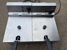 More details for lincat twin tank twin basket countertop electric fryer ldf2