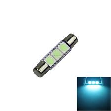 1x Ice Blue RV T6.3 Fuse Blub SunVisor Lamp 31MM 3 5050 SMD LED Z2708