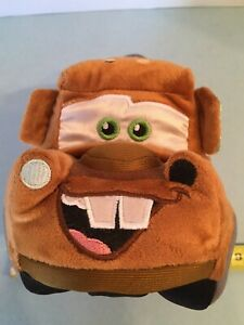 """Disney Parks Plush Tow Mater 8"""" Long Tire Attached She Likes Me For My Body NWT"""