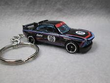 1973   '73 BMW 3.0 CSL ~ RACE VERSION (black)    CUSTOM KEY CHAIN RING FOB