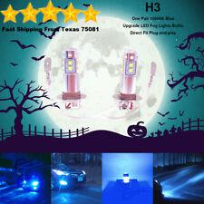 H3 LED Fog Driving Light Bulbs Kit Ultra Bright Premium Lamp 40W 10000K Blue