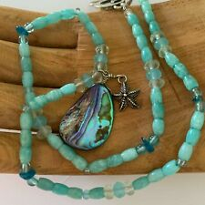 """Energy Muse Ultra Rare """"SEA GODDESS"""" Necklace 16,5"""" """"SOOTHING, TRUST, CALMING"""""""
