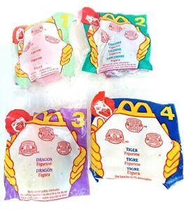 """McDonald's Happy Meal Toys """"Littlest Pet Shop"""" Complete Set of 4 1995 Unicorn"""