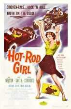 Hot Rod Chica Cartel 01 Letrero De Metal A4 12x8 Aluminio