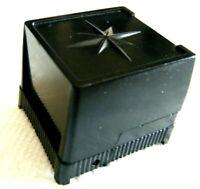 BLACK VINTAGE OLD STOCK  BAKELITE PLASTIC 'SUC MADE N U.S.A.' RING BOX