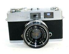 Konica Auto S2 35mm Film Rangefinder Camera Hexanon 1.8/45 Parts or Repair