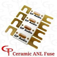 (4 Pack) Ceramic 100 AMP Gold Plated ANL Fuses GP Car Audio