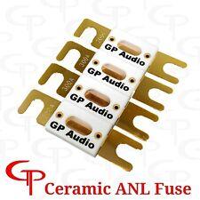 (4 Pack) Ceramic 200 AMP Gold Plated ANL Fuses GP Car Audio