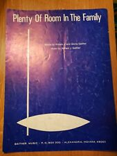 Plenty Of Room In The Family William & Gloria Gaither Vintage 1974 Sheet Music