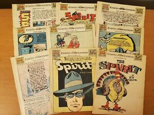 The Spirit Newspaper Sections (Set of 9) 1950, Will Eisner (Courier Express) 40s