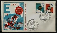 BRD FDC MiNr 533-534 (5) Europa (CEPT) 1967 -Vereinigung-Staatenbund-Politik-