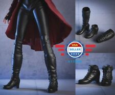 1/6 Avengers Scarlet Witch Boots BLACK PEG TYPE for 12'' Female Figure PHICEN